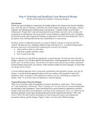 Qualitative Research Design Types With Examples Step 4 Selecting And Justifying Your Research Design