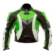 super motorcycle black green biker jacket