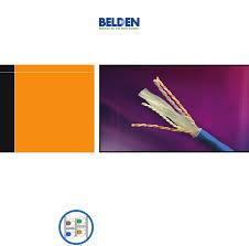Belden Cat 6 Conduit Fill Chart Pdf Document