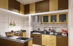 modular kitchen colors:  modular kitchen ideas with cream brown colors wooden kitchen cabinets and grey color marble countertops