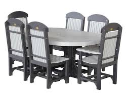 4x6 oval dinner table with 6 chairs
