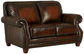 com standard furniture cordova loveseat 100 top grain leather coffee brown kitchen dining
