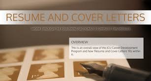 Resumes And Cover Letters Jcu Careers