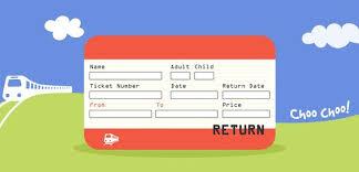 Uk Train Ticket Template Paperzip