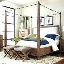 King Size Canopy Bed Frame Sets Bedroom Wooden Wood Full – geiranger ...