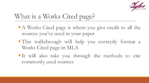 what is a works cited page mla works cited page