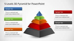 Pyramid Ppt 5 Levels 3d Pyramid Template For Powerpoint