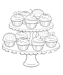 Free printable cupcake coloring pages for kids #2573193. Free Printable Cupcake Coloring Pages Coloring Home