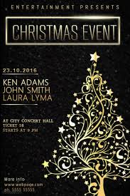 christmas event flyer template christmas event concert poster template black and gold postermywall