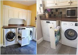 10. Hack The Space Between The Washer and Dryer and Fix Deep Drawers or a  Narrow Rack Depending Upon The Width of Available Space