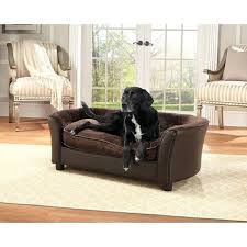 dog couch bed enchanted home brown ultra plush panache pet bed sofa dog bed furniture diy dog couch