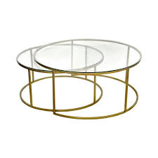 view 43 glass round nesting coffee table