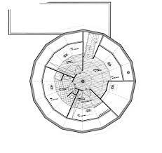 maison ronde bois plan interieur 2 jpg