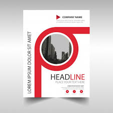 red annual report book cover template free vector
