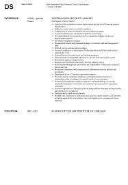 Information Security Analyst Resume Sample Velvet Jobs