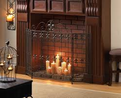 skillful design wrought iron fireplace screen 21