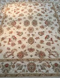 superb quality hand knotted veggie dye natural wool rug in traditional peshawer design deals on rugs