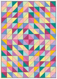Half Square Triangle Quilt Designs Connecting Threads Beginner Quilt Kit Half Square Triangle Fun Rainbow