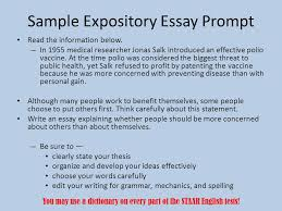 staar end of course ppt video online  sample expository essay prompt