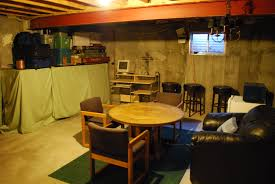 unfinished basement man cave - Google Search