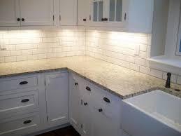 Kitchen Backsplash with White Cabinets Gallery Kitchen