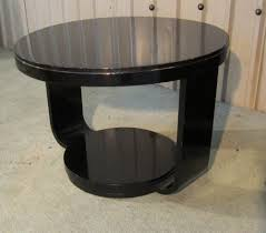art deco black lacquered round coffee table antique coffee tables