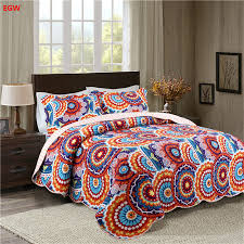 Home textile 3pcs bedspread+pillowcase set gray black flower ... & Home textile 3pcs bedspread+pillowcase set gray black flower patchwork quilt  blue pink grid bed cover American outlet bedding-in Bedding Sets from Home  ... Adamdwight.com