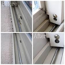 how to clean sliding door tracks