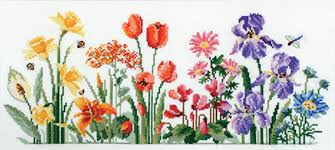 Country Threads Cross Stitch Floral Rainbow Pattern New X Stitch Fjp 2004 Ct