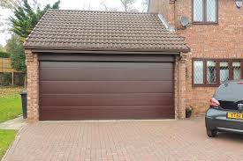 rosewood l rib double garage door