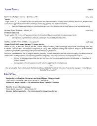 Substitute Teacher Teaching Resume Substitute Teacher