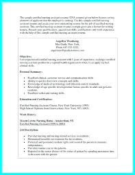 Nursing Assistant Resumes Resumes With No Experience Duties For Magnificent Cna Resume Sample