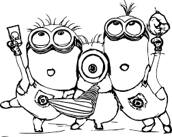 Small Picture Minion Coloring Pages For Minions Page omelettame