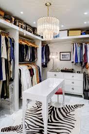 big closet top shelf contemporary closet and chandelier open shelf recessed lighting red stool white dresser