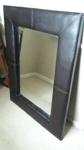 brown leather mirror second hand household furniture and leather mirror next brown leather large