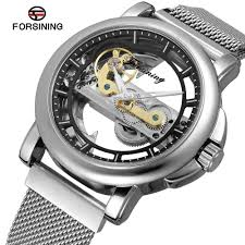 <b>Forsining</b> Men's Watch Automatic Stainless Steel Band Complete ...