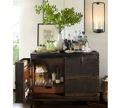 bar trunk furniture. ludlow trunk bar cabinet from pottery barn furniture