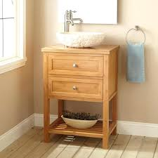 bathroom vanity for vessel sink narrow vanities wood pedestal glass combo
