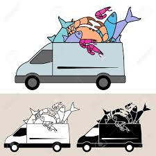 Van Delivery Of Fresh Fish And Seafood ...