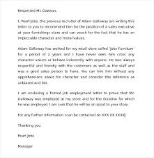Character Letter Sample Reference For 5 Samples Of Format To Write