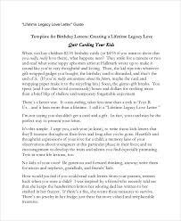 Birthday Love Letter Template