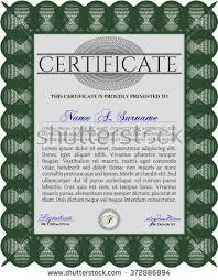 sample diploma frame certificate template vector stock vector  sample diploma frame certificate template vector linear background elegant design green
