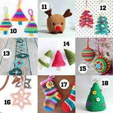 Crochet Christmas Ornaments Patterns New 48 Crochet Ornaments To Make This Christmas My Poppet Makes