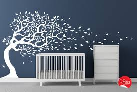 Blowing White Tree Nursery Wall Decal