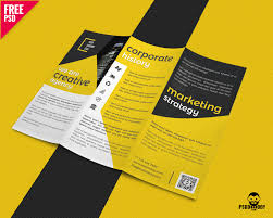 Creative Trifold Business Brochure Free Psd Uxfree Com