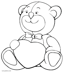 Heart Coloring Pages Pdf Teddy Bear Coloring Page Teddy Bear With