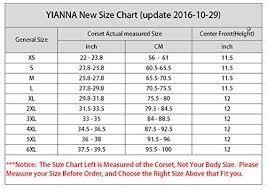Yianna Waist Trainer Size Chart Yianna Womenswomens Latex Underbust Corset Waist Training