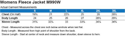 Harriton Size Chart Widow Dark Fitness Harriton Womens Fleece Jacket Widow