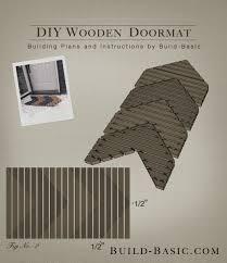 build a diy wooden doormat building plans by buildbasic build basic