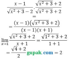 Belajar matematika sma dengan mudah melalui video tutorial bank soal gratis. Contoh Soal Limit Akar